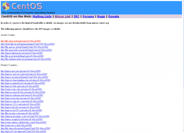 centos-download-list